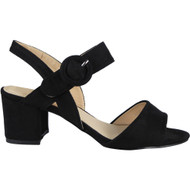 Beulah Black Sling Back Mid Heel Shoes