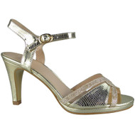 Carissa Gold Strappy Party Sandals