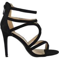 Demi Black Zip Stiletto  Sandals