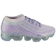 Beryl Purple Flat Lace Up Comfy Trainers