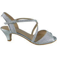 Getty Silver Peep Toes Bridal Sandals