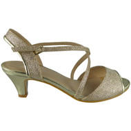 Getty Gold Peep Toes Bridal Sandals