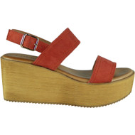 Makayla Orange Sling Back Buckle Sandals