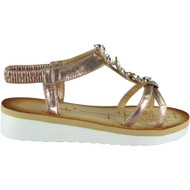 Mckinley Champagne Elastic Strap Comfy Sandals