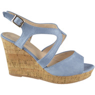 PEGGY Blue Peep toe Party Wedding Sandals