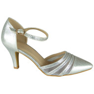 DINAH Silver Diamante Heels Wedding Shoes