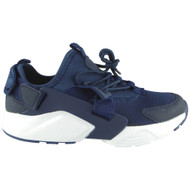 Paislee Navy Lace Up Flat Fitness Trainers