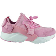 Paislee Pink Lace Up Flat Fitness Trainers