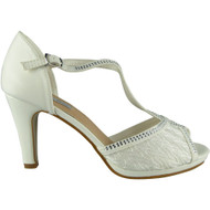 Braylee White Peep Toe Heel Sandals