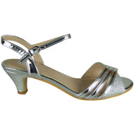 Gillian Silver Peep-toe Party Sandals