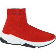 Traci Red Slip On Sock Shoes