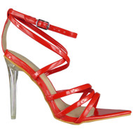 Madison Red Perspex Heel Sandals