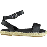 Erik Black  Espadrilles Summer Sandals