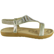 Diana Gold Comfy Strap Summer Sandals