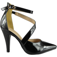 Lila Black Party High Heel Shoes