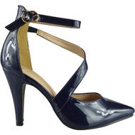 Lila Navy Party High Heel Shoes