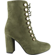 Felice Green Ankle Boots