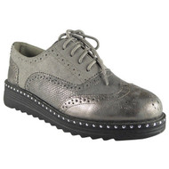 Immy Grey Brogue Loafers Casual Shoes