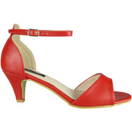 Wendy Red Peep Toe Party Sandal