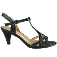 Nabby Balck T Bar Party Shoes