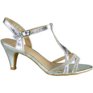 Nabby Silver T Bar Party Shoes