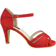 Fary Red High Heel Party Sandals