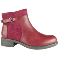 Elisabeth Wine Red Chelsea Ankle Shoes