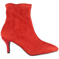 Marina Red Ankle Pointy Toe Shoes