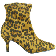 Marina Leopard Ankle Pointy Toe Shoes