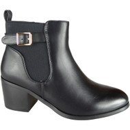 Caryn Black Chelsea Zip Smart Shoes