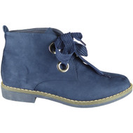 Faigy Blue Lace Up Ankle Boots
