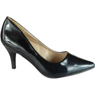 Lindy Black Pointy Party Shoes