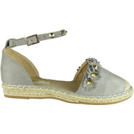 Cheri Grey Studded Summer Sandals