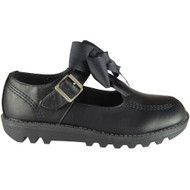 Sindy Black Pu Office School Shoes