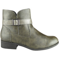 Rodha Grey Zip Smart Ankle Boot