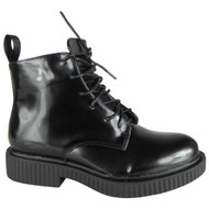 Connee Black Ankle Creepers Grip Shoes