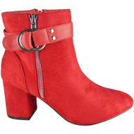 Gabby Red High Heel Fashion Casual Shoes