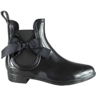 Janette Black Wellington Bow Rain Shoes