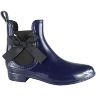 Janette Blue Wellington Bow Rain Shoes