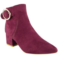 Rubie Wine Fashion Casual Buckle Winter Shoes
