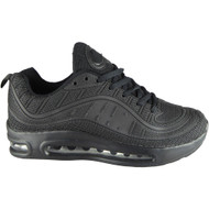 Octavia All Black Fitness Comfy Lace Up Shoes