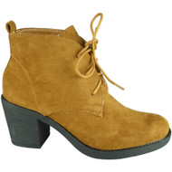 Addie Camel High Heel Ankle Casual Shoes