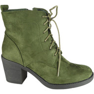 Adelina Green Ankle High Heel Casual Shoes