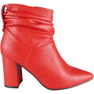 Alene Red Winter Pointy Fashion Casual Shoes