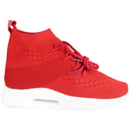 Arable Red Sock Jogging Heel Shoes
