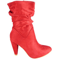 Arline Red High Heel Pointy Fashion Casual Shoes