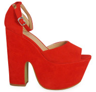 Trixie Red High Heel Casual Shoes