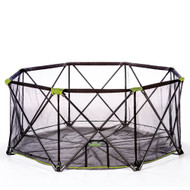 Carlson Portable Pet Yard Pen 8 Panel-Black with Green