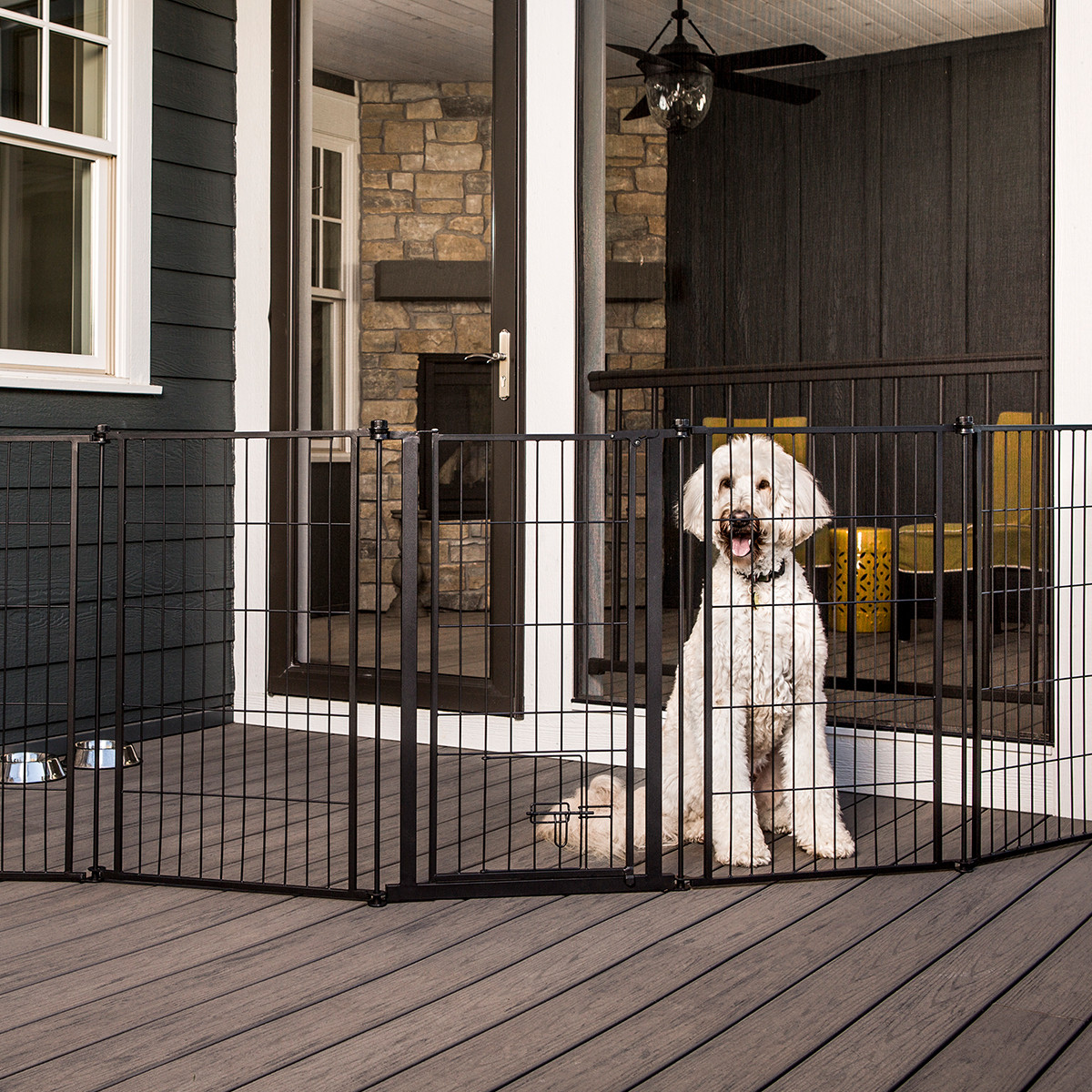 Outdoor Extra Tall Super Wide Pet Gate Amp Pen 36 Quot H X 144 Quot W