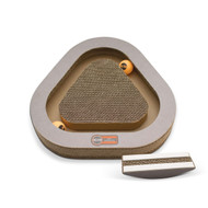 Kitty Tippy Triangle Cardboard Scratcher Interactive Cat Toy